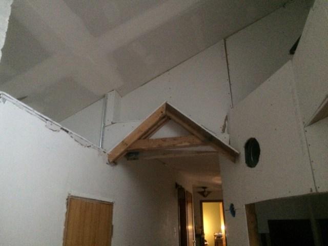 Hallway and Radon Shaft