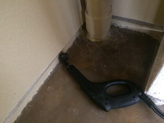 Pantry closet floor after