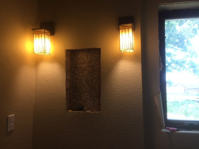Master bathroom sconces