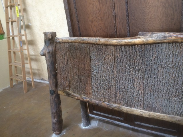 Dusty bark footboard