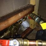 Tub faucet supply piping