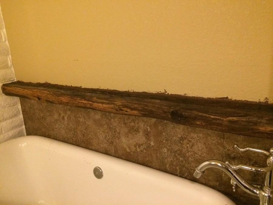 Full beam caulked for tile