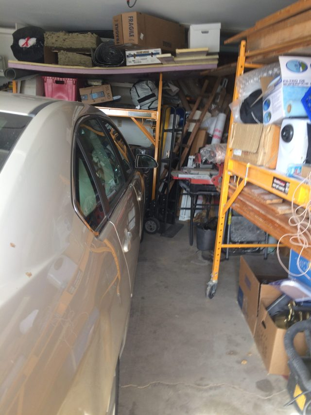 Room for the car in the garage