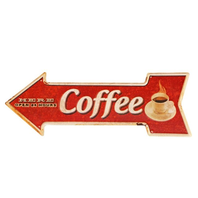Coffee Arrow Sign