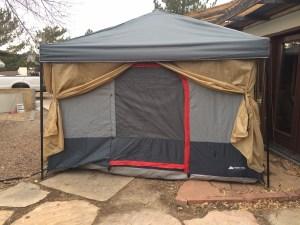 Tent door with walls