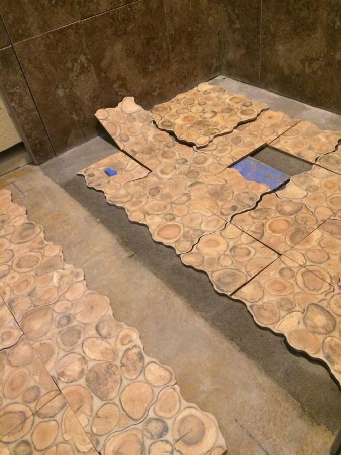Floor tile layout