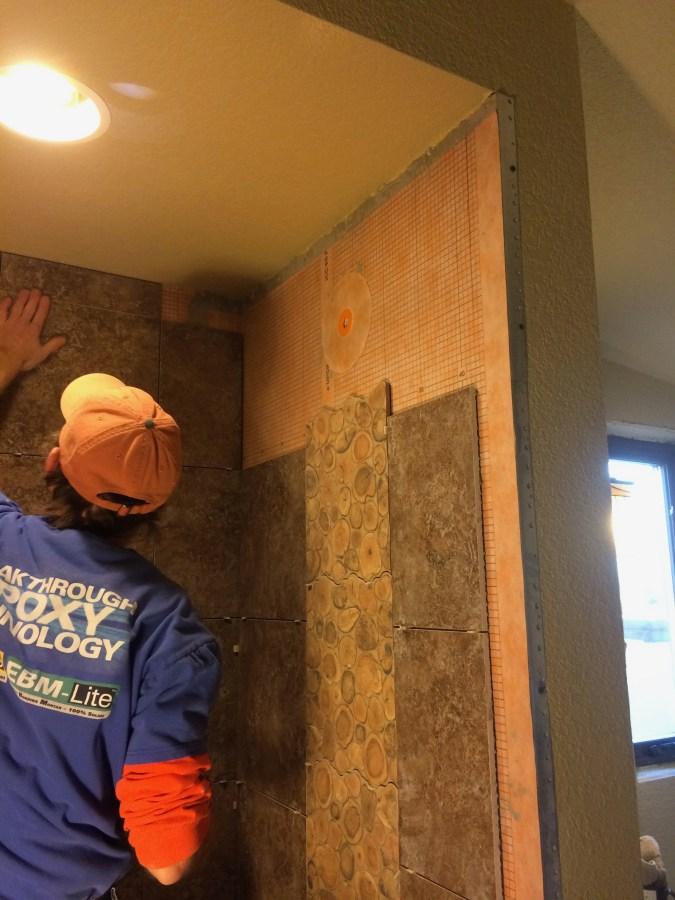 Finishing the back wall