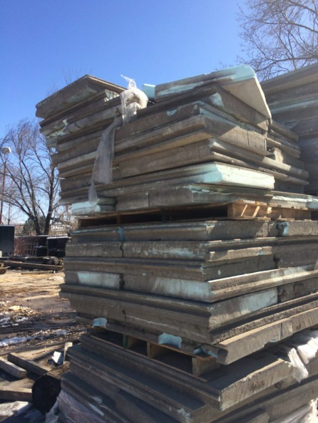 Extruded polystyrene and concrete roof pavers