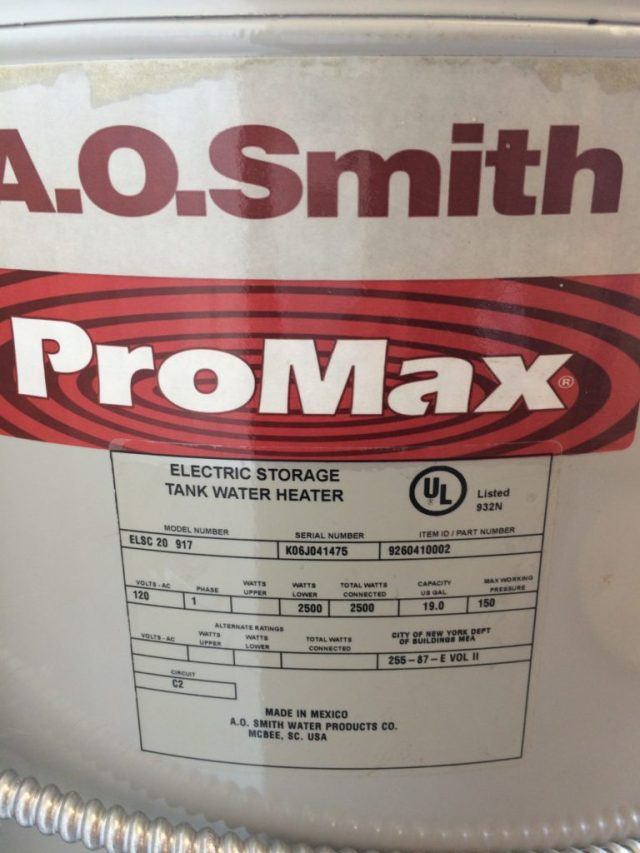 19 Gallon Electric Water Heater