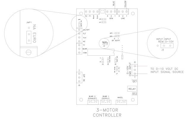 Recouperator 0-10v Jumper Changes