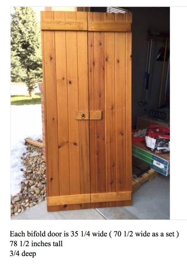 Rustic bifold doors