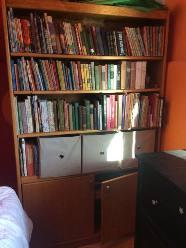 Filled bookshelf