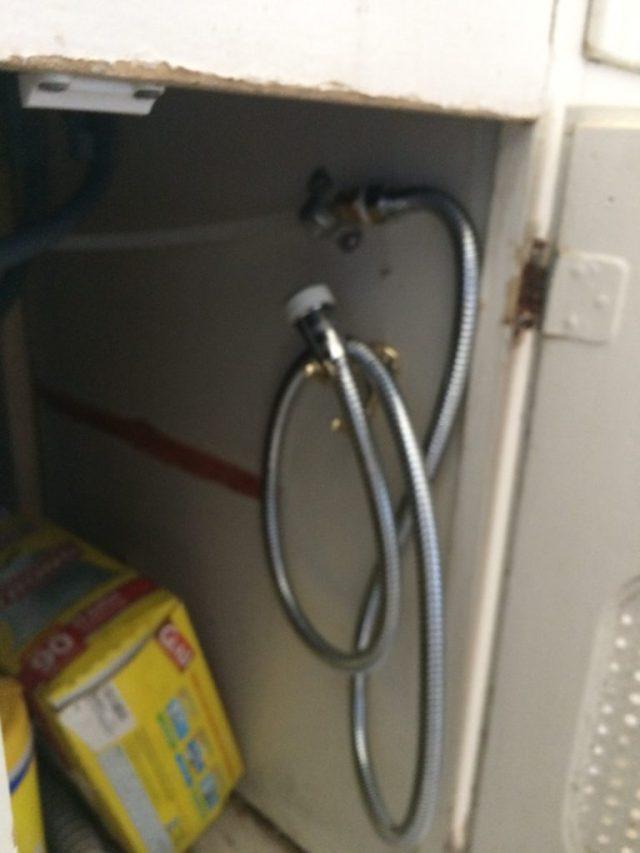 Shower hose on hook