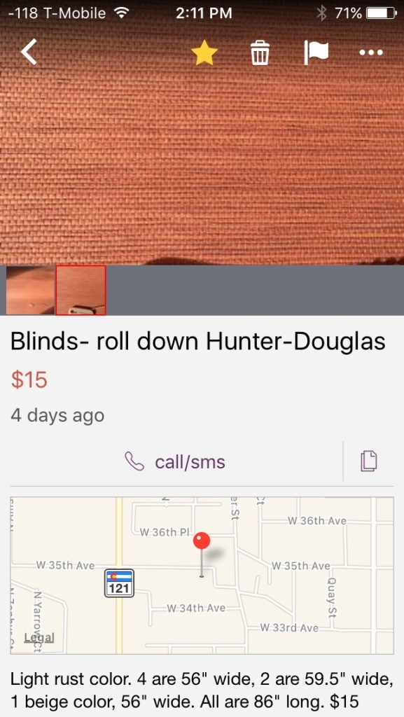 Craigslist Blinds
