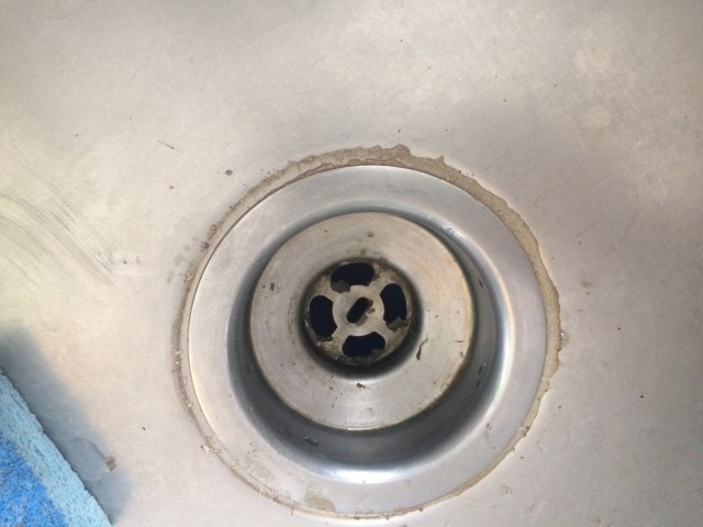 Old sink drain