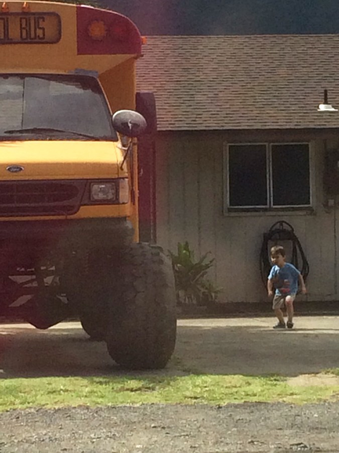 Monster School Bus to admire