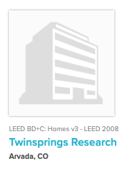 Twinsprings Research LEED Project Registered