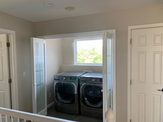 Second floor laundry closet
