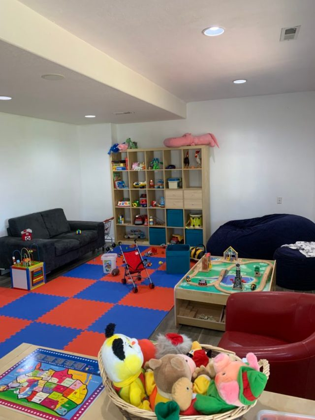 Fun playroom/family room