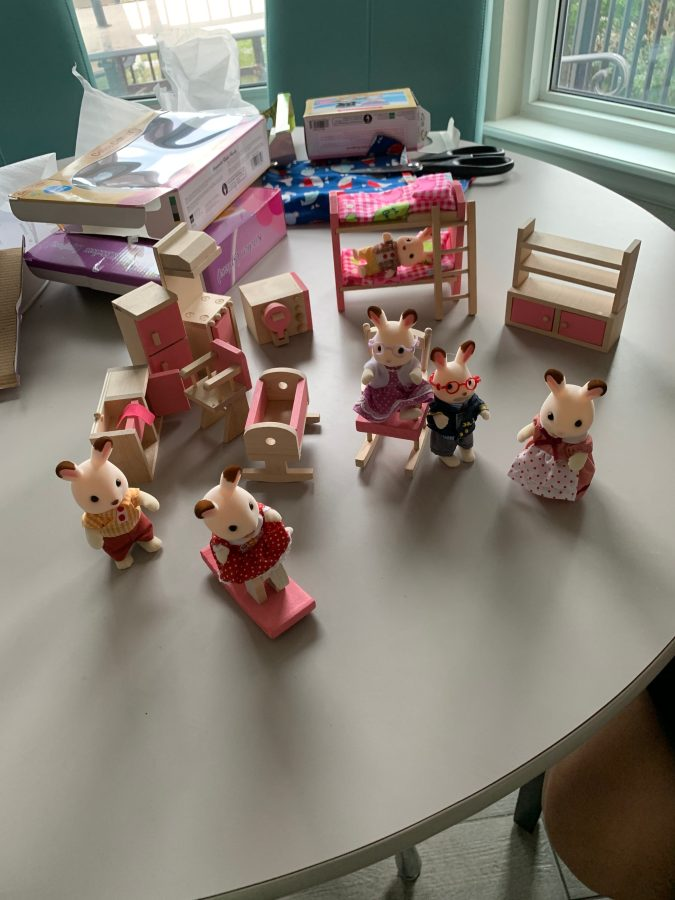 Little Critters and dollhouse furniture