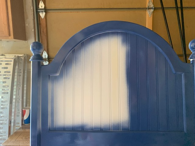 Painting the set royal blue
