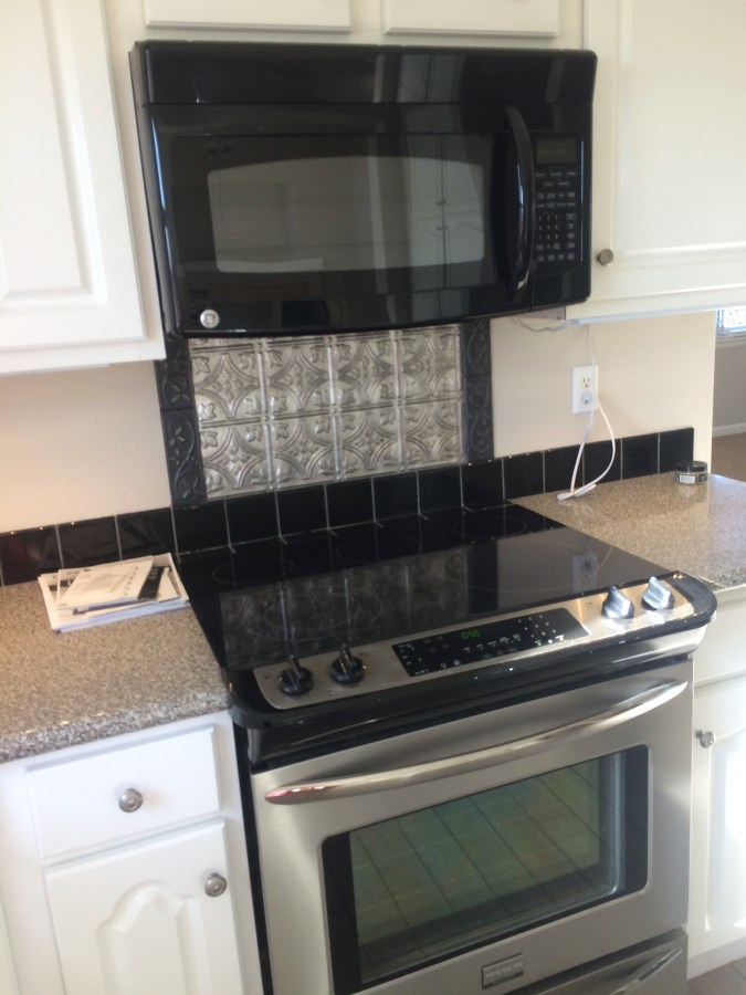 Existing electric stove and microwave