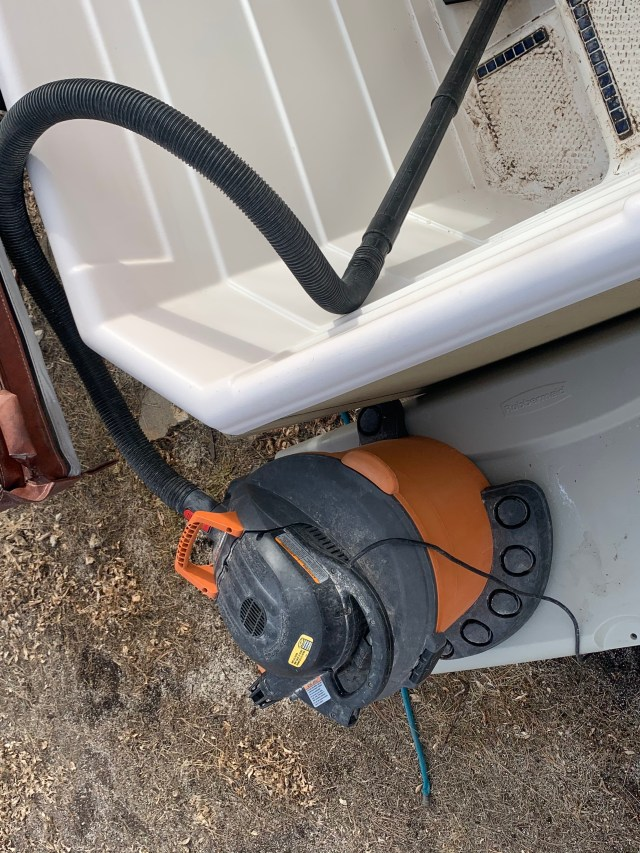 Shop Vac used to suck water