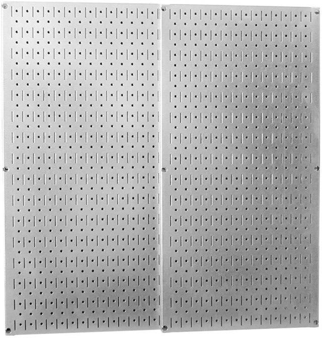 Galvanized peg board