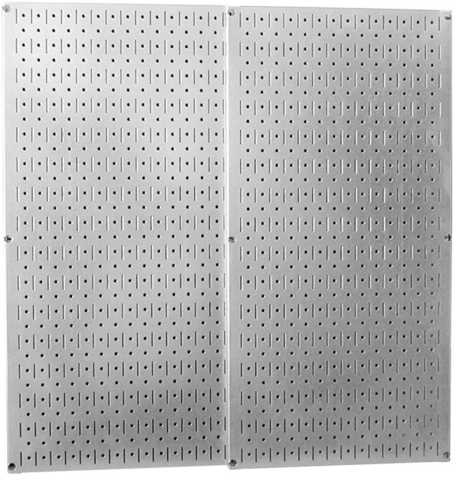 Galvanized peg board