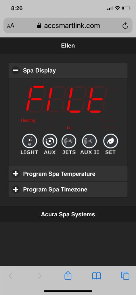 Wifi Screen on iPhone