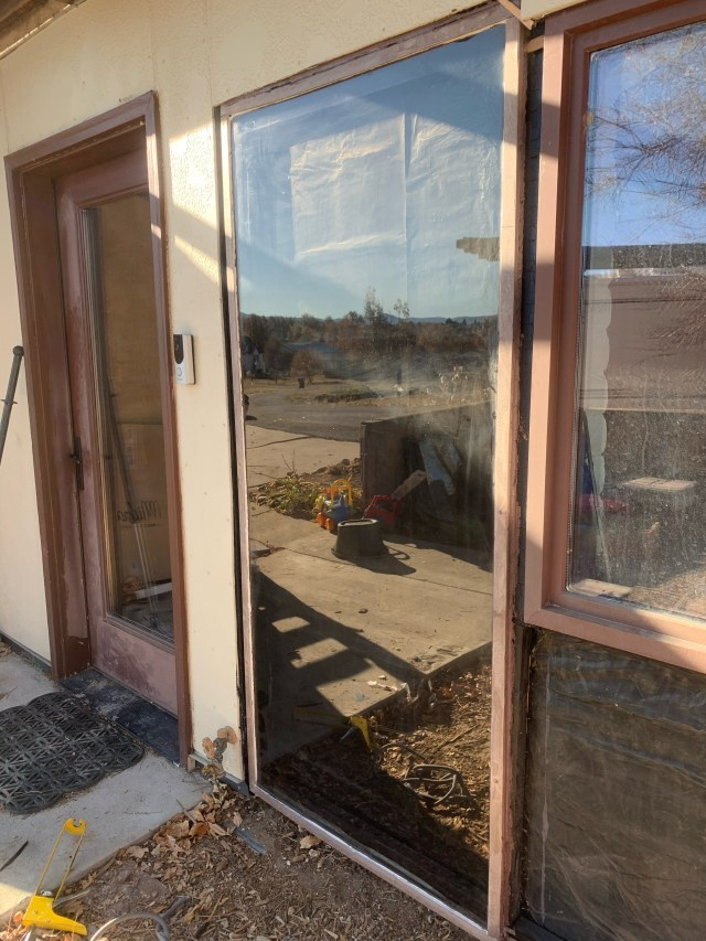 Window frame caulked