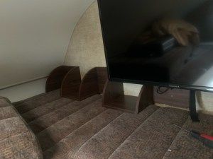 Corner cabinet to protect TV