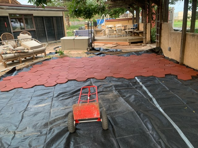 Laying the tile