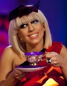 Gaga loves her tea, we're told.