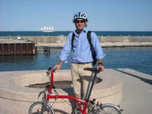 richard's new brompton folding bike