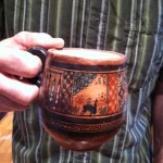 My husbands favorite mug, bought in Peru