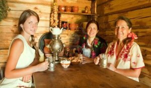 If there's a photo of tea drinking in Russia, there's usually a samovar in it.
