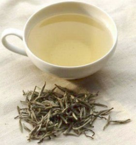 Light and lovely in the cup ... it's white tea!
