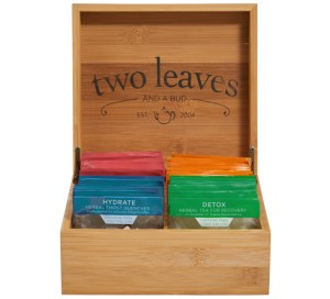 Tea Gift of 4 Tea Bamboo Presentation Chest