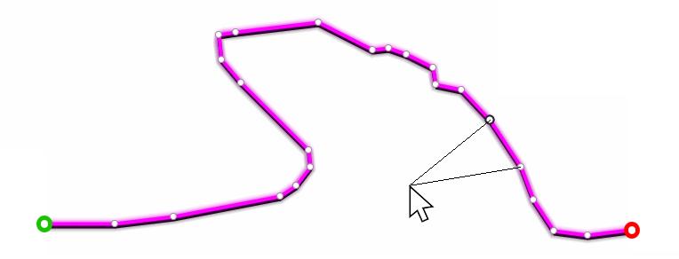 Créer des points de trace intermédiaires par double-clic