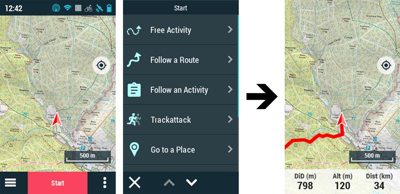 GPS TwoNav: New map window interactivity