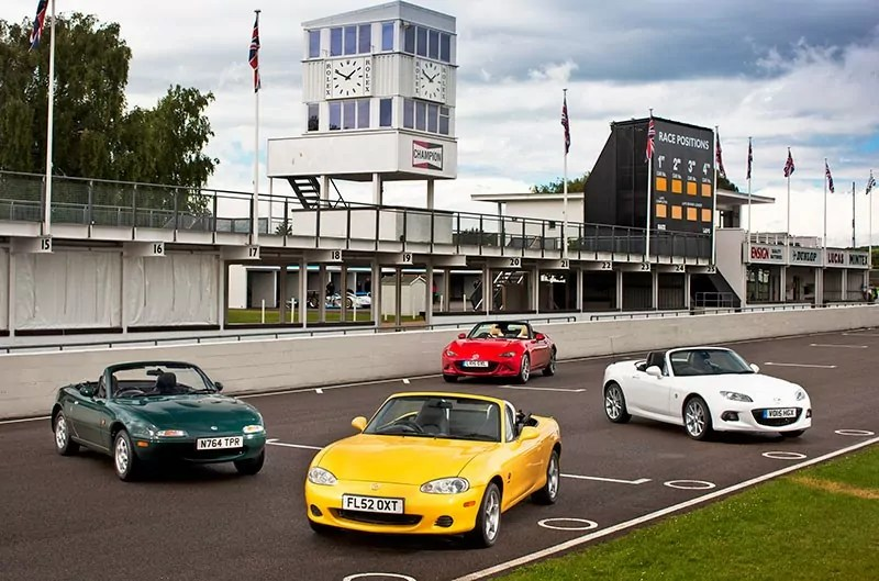 The History o the MX-5. Line up at Goodwood