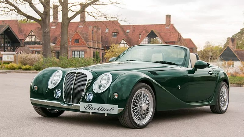 Mitsuoka Brookland in British Racing Green with Wire wheels