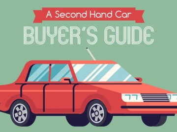 A second hand car buyers guide infographic