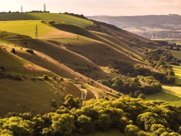 summer driving routes through the south downs
