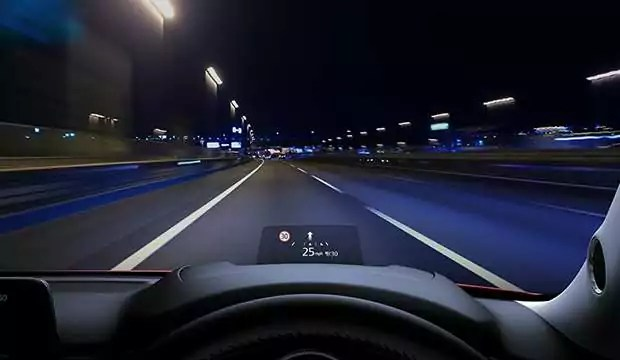 CX-5 Windscreen Projected Active Driving