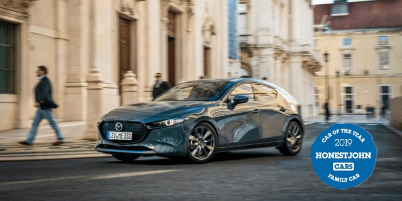 All-new Mazda 3 wins Best Family Car in 2019 Honest John Car of the Year Awards