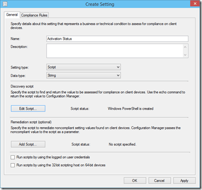 Detecting Windows License Activation Status Using ConfigMgr
