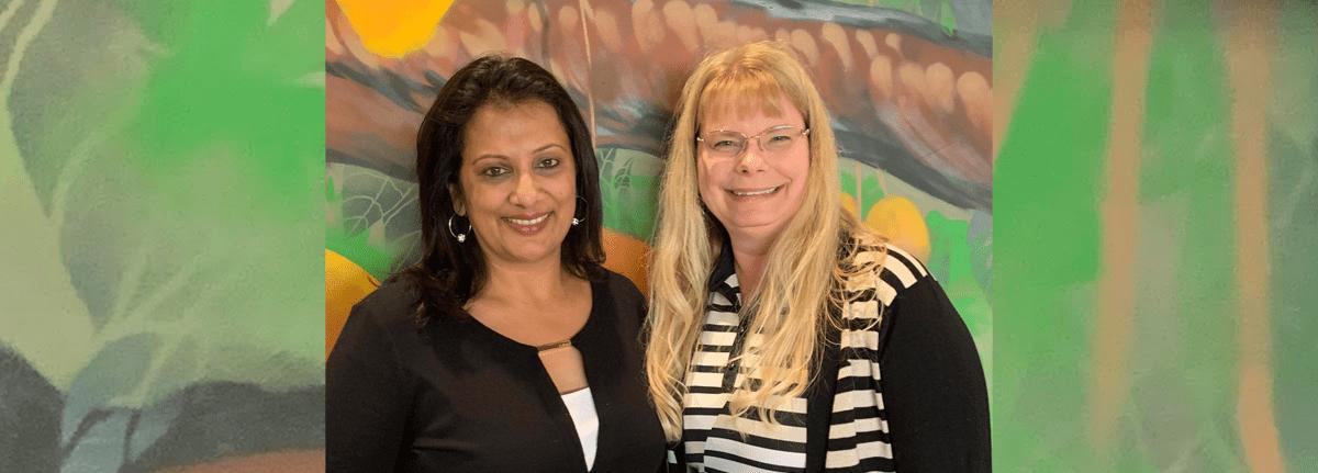 Kiran Gulati and Susan Carino