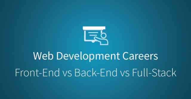 Web Development: Front-End, Back-End, and Full Stack Developers via Udacity.com
